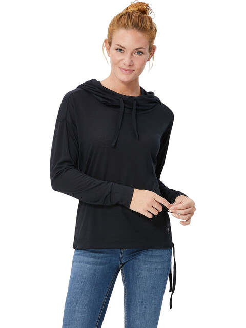 super.natural Funnel Hoody Women Jet Black